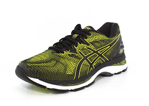 ASICS Men's Gel-Nimbus 20 Running Shoe, Sulphur Spring/Black/White, 10 Medium US