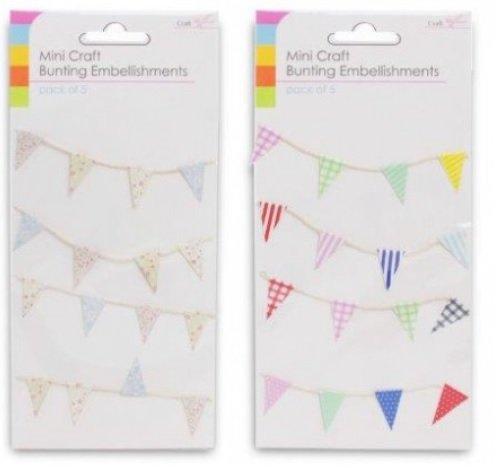 The Home Fusion Company Mini Wimpel Flaggen auf Saiten Verzierungen Kariert Punkte Party Farben Kartengestaltung