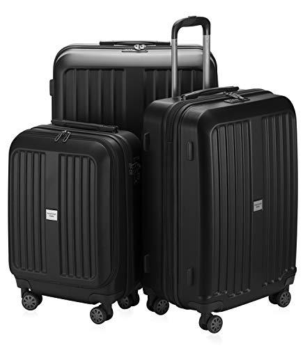 Hauptstadtkoffer - X-Berg - Koffer-Set Trolley Hartschale, TSA, 55 x 65 x 75 cm, 257 Liter, Schwarz matt