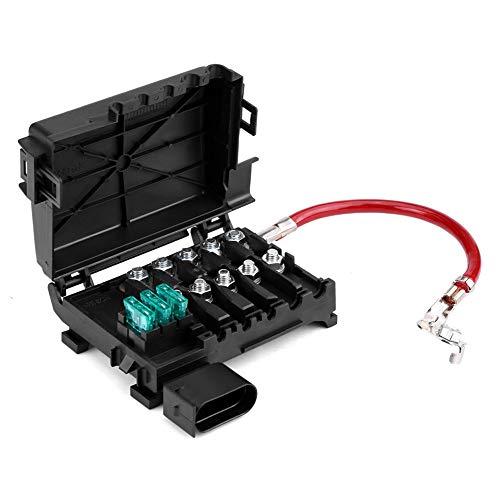 Caja de fusibles de batería, 1J0937550A Terminal de soporte de caja de fusibles de batería de coche para Jetta Golf Mk4 Beetle 99-04