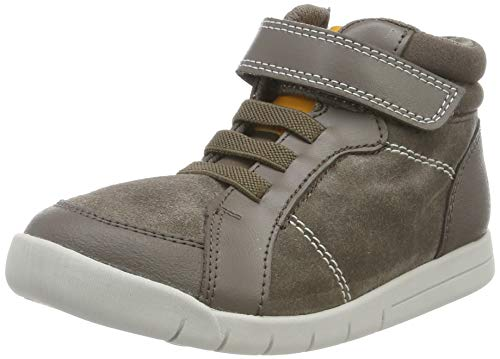 Clarks Mädchen Emery Beat T Hohe Sneaker High-Top, Braun (Brown Leather Brown Leather), 27.5 EU