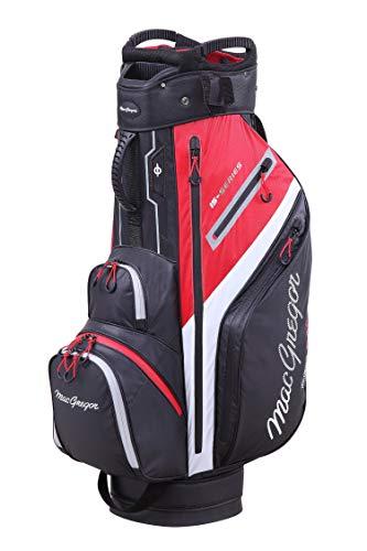 "MacGregor Golf MACTEC 15 Serie Water Resistant Golf Club Cart Bag, 10\"" , Schwarz / Rot"