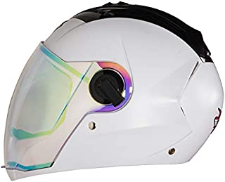 Steelbird SBA-2 7WINGS Dashing Night Vision Full Face Helmet with Dual Action Night Vision Visor (Large 600 MM, White)