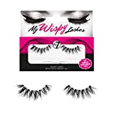 W7 | My Wispy Lashes | 6 Reusable Styles - Wispy and Natural | 100% Human Hair | Black Handmade Eyelashes With Glue Adhesive | WL15 | Cruelty Free, Eye Makeup Accessories For Women
