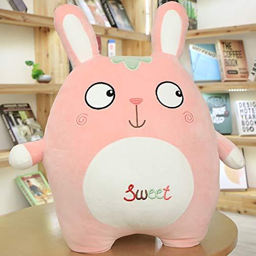 NOVELOVE Plüsch Spielzeug Kaninchen Kissen Puppe 70cm (2kg) Schräges EDI-Auge