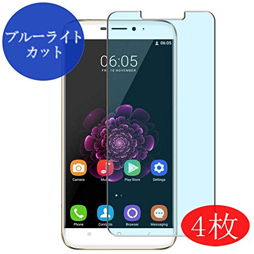 【4 Pack】 Synvy Anti Blue Light Screen Protector for Oukitel U20 Plus Anti Glare Screen Film Protective Protectors [Not Tempered Glass]