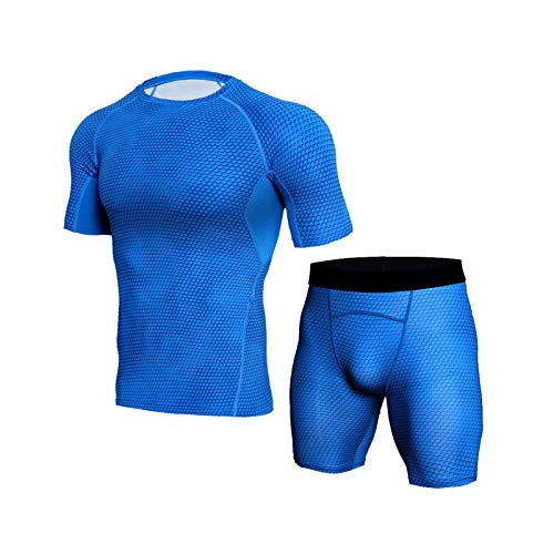 Sally Pag OMRIHAN T-shirt Shorts Set,Compression Shorts Cool Dry Sports Tights Sports Undershorts Running Base Layer Shorts for Mountaineering,Cycling,Skiing,Training,Hiking,Outdoor Sports