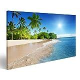 islandburner Bild Bilder auf Leinwand Strand in der Karibik