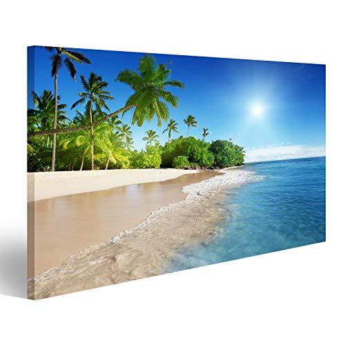 islandburner Bild Bilder auf Leinwand Strand in der Karibik Poster, Leinwandbild, Wandbilder