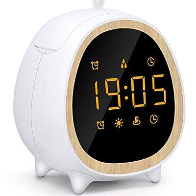 Diffuser Alarm Clock, 200ml Ultrasonic Cool Mis...