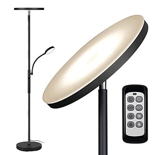 Floor Lamp - Dimunt LED Floor Lamps for Living Room Bright Lighting, 27W/2000LM Main Light and...