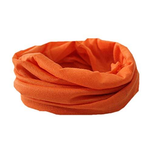 Geshiglobal, scaldacollo da ciclismo da uomo, morbido, elasticizzato e senza cuciture, perfetto per attività all'aperto, Orange