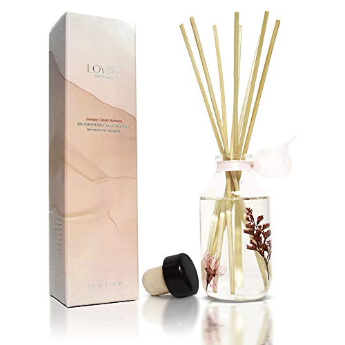 LOVSPA Japanese Cherry Blossom Reed Diffuser | Key Notes: Japanese Cherry Blossom, Asian Pear, Fresh Mimosa Petals, White Jasmine & Blushing Sandalwood | Makes a Great Gift!