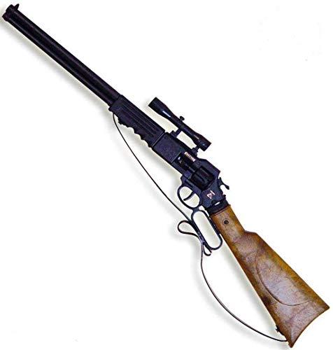 KarnevalsTeufel Arizona Gewehr, 8 Schuss, ca. 60cm, Spielzeuggewehr, Western, Gewehr, Flinte, Cowboy, Zielfernrohr, Zielscheibe, Cowboygewehr, Cowboyzubehör, Wilder Westen, Wild wild West,