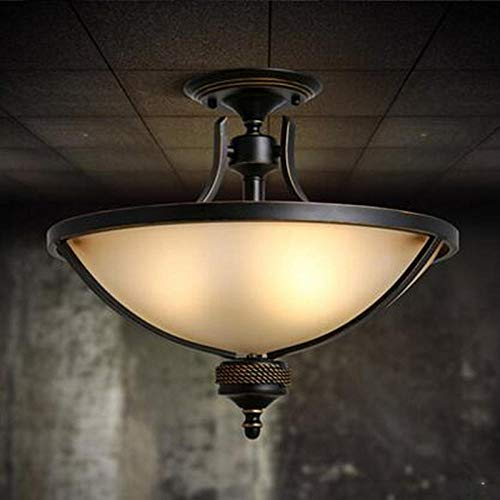 Flush Plafondlamp Plafond Lampen Amerikaanse Landelijke Retro Restaurant Led Glas Plafondlampen voor Woonkamer Moderne Slaapkamer Balkon Thuis Deco Hanglamp Verlichtingen