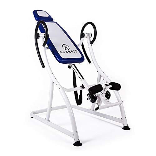 Klarfit Relax Zone PRO Panca a inversione gravitazionale Palestra Fitness (Max 150 kg, 20 Livelli di Regolazione, Telaio in Acciaio, Giunti autobloccanti) - Bianco