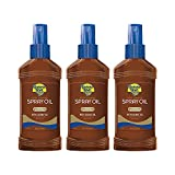 Banana Boat Deep Tanning Oil, Reef Friendly, Pump Sunscreen Spray with Coconut Oil, SPF 0, 8oz. - Pack of 3