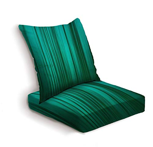 2-Piece Outdoor Deep Seat Cushion Set Abstract background blur in bright green through intentional camera Back Seat Lounge Chair Conversation Cushion for Patio Furniture Replacement Seating Cushion