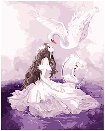 DUANGONGZI Pintar por Numeros para Bricolaje Pintura por Soñar con el Amor Los Mejores Regalos para Amantes, niños y Madres.-40X50CM-With Frame