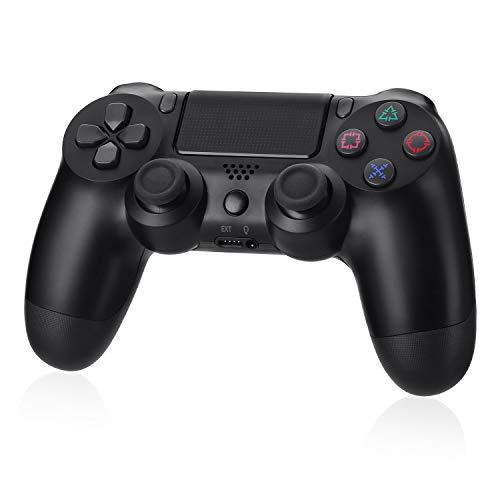 【2021年の最新版】PS4 コントローラー ワイヤレス Bluetooth接続 PS4 PRO SLIM対応 PC対応 充電ケーブル 付き 振動機能 700mAh ジャイロセンサー機能 重力感応 ゲームパット イヤホンジャック 高耐久ボタン 無線 PS4 コントローラー