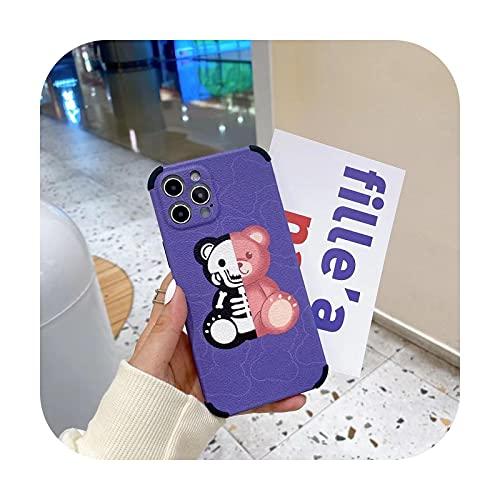 Lindo oso teléfono caso para iPhone 12Promax 11Promax XR XSMAX 7 8 Plus 12Pro 11 12Pro 11Pro Anti-caída caso cubierta para iphone Funda-Style 1-Para iphone 11Pro