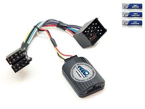NIQ Lenkradfernbedienungsadapter geeignet für JVC Autoradios, kompatibel mit BMW 3er / 5er / 7er / Mini / Z4 (runde Pins)