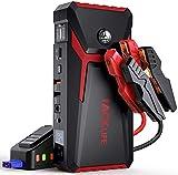 TACKLIFE T8 Arrancador de Coche 800A Peak 18000mAh con Pantalla LCD (hasta 7,0 l de Gasolina, Motor diésel de 5,5 l), Refuerzo de batería automático de 12 V con Cable de Puente Inteligente