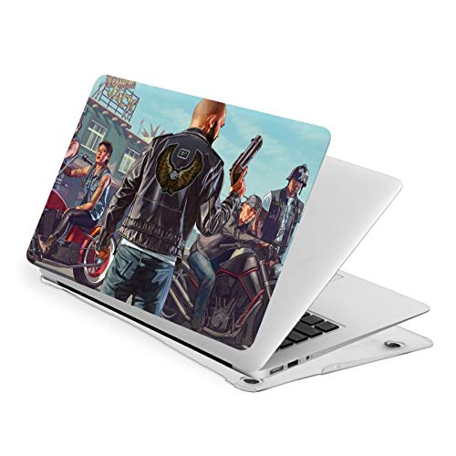 Grand Theft Auto 5 Gta5 GTA Apple Laptop Case, Compatible with MacBook Air 13 Inch, MacBook Pro 13 & 15 Inch, Only Applicable to A1369 A1466 A1932 A1706 A1707 A1708 A1989 A1990 A2159 Models