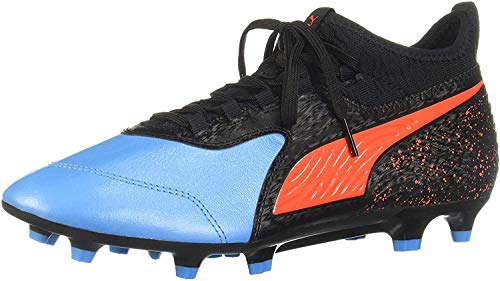 PUMA ONE 19.3 FG/AG Men's Leather Soccer Cleats-Black-7.5