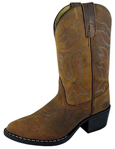 ARIAT boys Charger Western Boot, Distressed Brown, 3 Little Kid US
