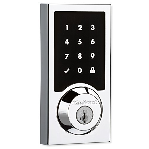 Kwikset 99160-018 SmartCode 916 Contemporary Z-Wave Plus Touchscreen Electronic Deadbolt, Polished...