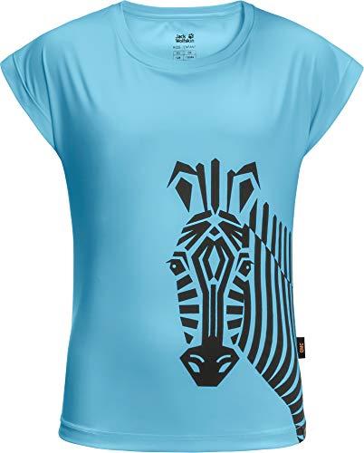 Jack Wolfskin Mädchen Zebra T-Shirt, Gulf Stream, 140