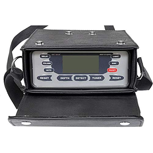 DETECH Detector Profesional de Metales SSP 5100 Pulse, Dorado y reliquia, con Bobina Cuadrada discriminatoria de 1 m x 1 m incluida