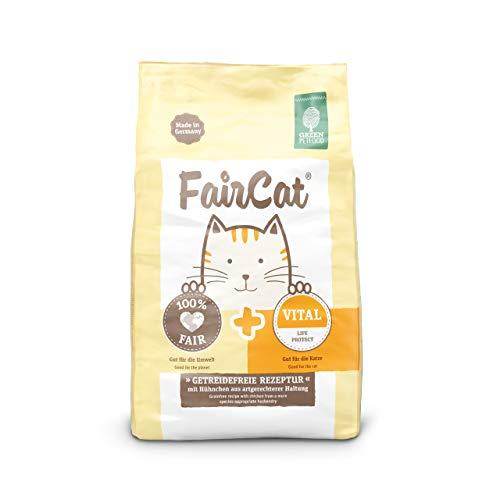 Green Petfood FairCat Vital - Getreidefreies Alleinfuttermittel mit Hühnchen für Deine ausgewachsene Katze. 5x300g Katzenfutter Trocken