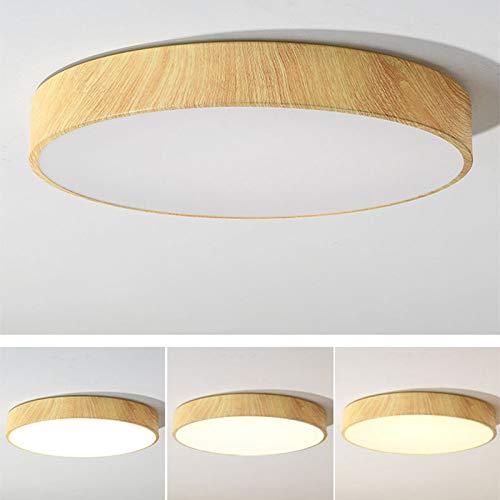 WFSDKN Plafondlamp, ultradunne led-plafondlamp met houtnerf, moderne lamp, woonkamer, lamp, slaapkamer, keuken, opbouw, inbouwlamp