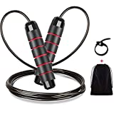 Renoj Jump Rope, Jump Ropes for Fitness, Jump Rope Workout for Exercise (red)