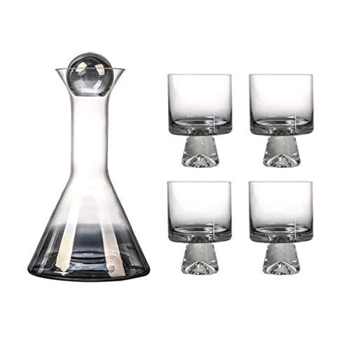 Twisted Horn Wine decanter di cristallo senza piombo decanter Vino Decanter Caraffa Vino Vino Decanter di Cristallo Bicchiere Decanter per Vino E Simpatico Sottobicchiere Vino Accessori Regalo