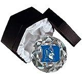 Sports Collector's Guild NCAA Duke Blue Devils Maskottchen auf einem 10,2 cm hohen Brillanz-Diamantschliff Kristall Briefbeschwerer