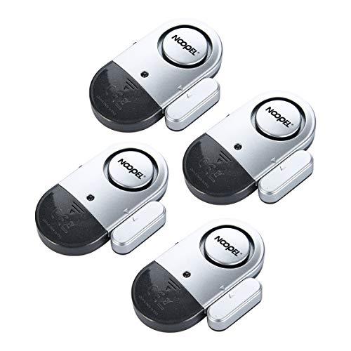 Noopel Tür-/Fenster-Alarm für Zuhause, ultradünn, kabellos, magnetischer Sensor, Diebstahlschutz, 120 dB, Alarm mit Batterien im Lieferumfang enthalten, einfach zu installieren (4)