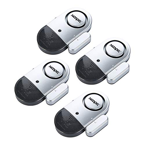 Learn More About Window Door Alarms 4 Pack NOOPEL Pool Alarms for Doors Magnetic Entry Sensor Burgla...