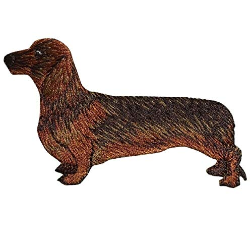 Original Design Patches Cool Patches Dachshund Applique Patch - Wiener Dog, Puppy Badge 3.25' (Iron on) Fashion Drawings