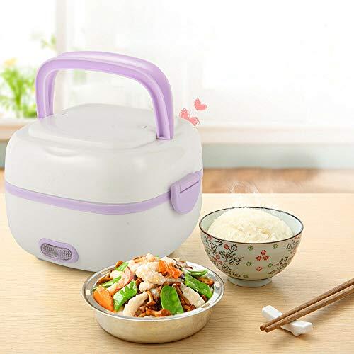 Berkalash 200W Electric Lunch Box, Multifunktions Mini Reiskocher, Wärmedämmung Elektrische Mahlzeit Box, 1L Kapazität Elektrische Heißer Reiskocher