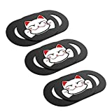 Laptop Webcam Cover,0.027in Ultra Thin Cute Cat Web Camera Cover Slide Camera Blocker Protect Privacy for Computer/Laptop/Desktop/PC/iMac/MacBook Pro/Mac Mini/Smartphone (3 Pack)
