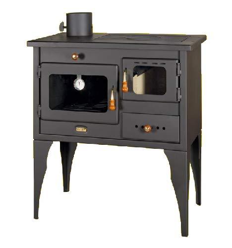Holzofen mit linkem Abzug 10 kW Heizleistung Festbrennstoff Ofen mit Ofen