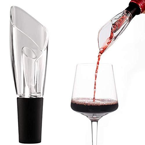 Maotrade Inclinación Escanciador de vino PVC Oxigenador vino Reutilizable Accesorios vino Y un Tapón de vino de Silicona Adecuado para Botella de vino, Botella de vino tinto, Familia, Fiesta, Bar