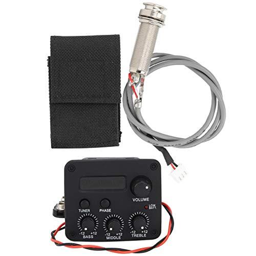 Gitarren-Equalizer, einstellbares 3-Segment-Musikinstrument-Zubehör Gitarren-Schallloch-Pickup-LCD-Bildschirm für Lehrer für Akustikgitarre