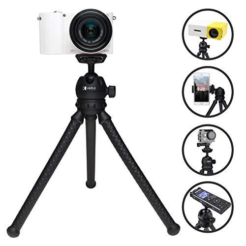 Trípode Mini Flexible Viaje Compatible con Canon IXUS 100 IS, 120 IS, 200 IS, 220 HS, 255 HS, 265 HS, 275 HS, 500 HS Cámara Digital Monopie Soporte de Pulpo