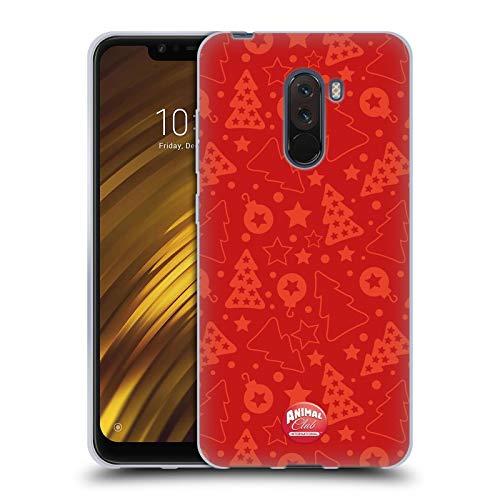 Head Case Designs Offizielle Animal Club International Weihnachtsbaum Rot Kristall Muster Soft Gel Huelle kompatibel mit Xiaomi Pocophone F1 / Poco F1