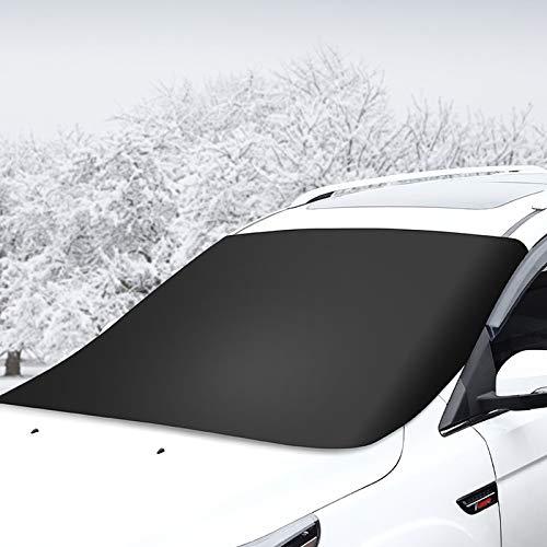 Ryoizen Frontscheibenabdeckung Windschutzscheibe Abdeckung Auto, Abnehmbare Winterabdeckung Auto abdeckplane Winter Eisschutzfolie für gegen Schnee Frost
