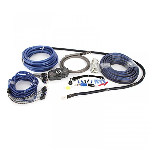 NVX Audio 100% Copper 4 Gauge Car Amplifier Install Kit w/ 4-Channel RCA, Up to 1000 Watts RMS [XKIT44]
